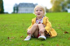 Little girl playing in the park Royalty Free Stock Photo