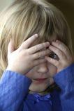 Little Girl Playing Peekaboo Game Royalty Free Stock Photography