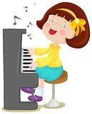 Little girl playing piano Royalty Free Stock Images