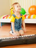 Little girl playing piano Royalty Free Stock Photo