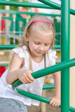 Little girl playing Royalty Free Stock Photography