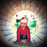 Little girl playing Royalty Free Stock Photo