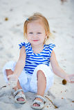 Little girl playing with sand Royalty Free Stock Photo