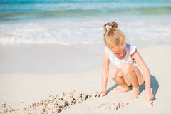 Little girl playing. Royalty Free Stock Photos