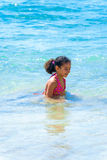 Little Girl Playing in Sea Water Royalty Free Stock Photo