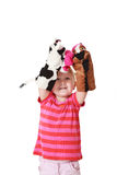 Little girl playing theater Royalty Free Stock Images