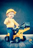 Little Girl Playing with Toy Truck Royalty Free Stock Photo