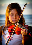 Little girl playing violin Royalty Free Stock Photo
