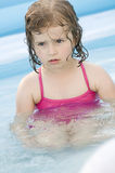 Little girl playing in water Royalty Free Stock Photo