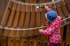 Little girl playing xylophone Stock Photography
