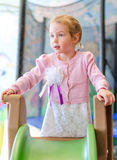 Little girl in playroom Royalty Free Stock Photo