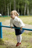 The little girl plays Royalty Free Stock Images