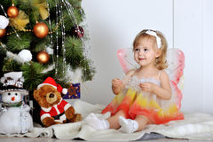 Little girl plays Royalty Free Stock Image