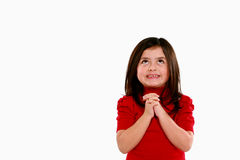 Little girl pleading Stock Image