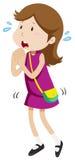 Little girl pleasing for something. Illustration Stock Photos