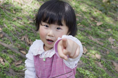 Little girl point you Royalty Free Stock Photos