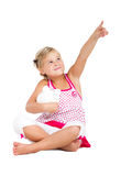 Little girl pointing Stock Photos