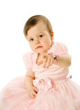 Little Girl pointing Stock Photography
