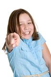Little Girl Pointing Royalty Free Stock Photos