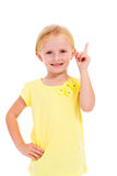 Little girl pointing Stock Photos