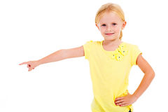 Little girl pointing Royalty Free Stock Image