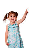 Little girl pointing up Royalty Free Stock Photography