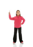 Little girl pointing up Royalty Free Stock Photos