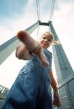 Little Girl Poke Finger Stock Photos