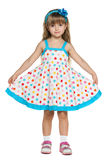 Little girl in polka dot dress Royalty Free Stock Photo