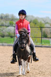 Little girl and pony Stock Photography
