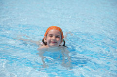 Little girl in pool Royalty Free Stock Images