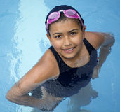Little girl in pool Royalty Free Stock Photography