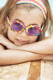 Little girl by poolside Royalty Free Stock Photo