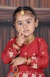 Little girl portrait. A little Punjabi girl photo taken in studio Royalty Free Stock Image