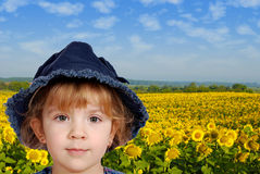 Little girl portrait Stock Images