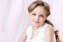 Little girl portrait. Cute little girl  looking at you studio portrait Stock Images