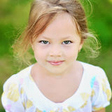 Little girl portrait close up Royalty Free Stock Photos