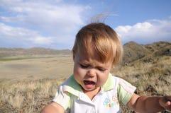 Little girl portrait crying Stock Photo