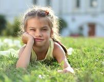 Little girl. Portrait of a happy little girl stock photo