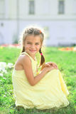 Little girl. Portrait of a happy little girl royalty free stock image