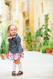 Little girl portrait outdoors Stock Image