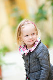 Little girl portrait outdoors Stock Photo