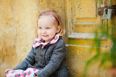 Little girl portrait outdoors Royalty Free Stock Photos
