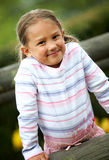Little girl portrait outdoors Royalty Free Stock Images