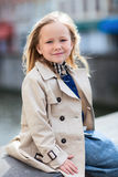 Little girl portrait outdoors Royalty Free Stock Image