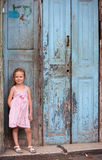 Little girl portrait outdoors Stock Images