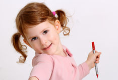 Little girl portrait Royalty Free Stock Photography
