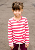 Little girl portrait summer outdoors Royalty Free Stock Photos