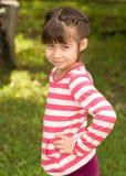 Little girl portrait summer outdoors Stock Photos