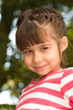 Little girl portrait summer outdoors Stock Photo